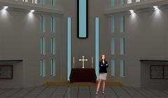 Tricaster Psd TV Studio Set for Faith - PSD template