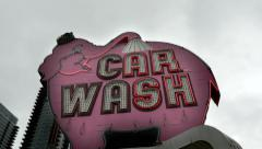 Elephant Car Wash, Seattle Stock Footage