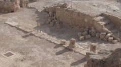 The Ancient Herodium, Herod the Great's home - stock footage