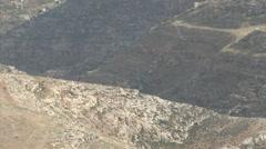 Israeli Desert- Judea/ West Bank - stock footage