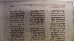 Ancient Biblical Scroll In Jerusalem Stock Footage