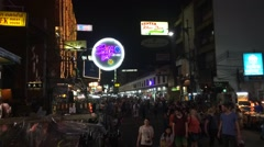 Timelapse of Kao San road croud traffic Stock Footage