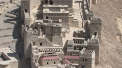 Model of the Second Temple in Jerusalem, Israel Stock Footage