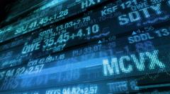 Stock Market Tickers - Digital Data Display Background - stock footage