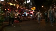 timelapse of night BKK downtown - stock footage