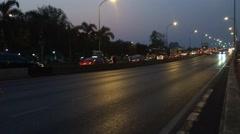 Timelapse of night Bangkok  road traffic Stock Footage