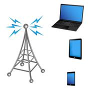 Communication Antenna and Electronic Device Stock Illustration