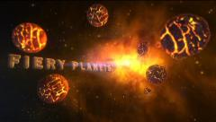 Fiery Planets - Dying Planets and supernova Logo Opener. - stock after effects
