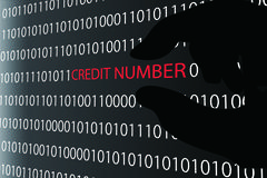 Stealing Credit Card Information Stock Illustration