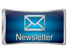 Newsletter Button - stock illustration