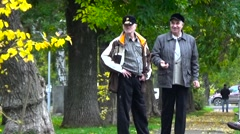 The old people in the park. Stock Footage