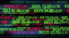 Stock Market Tickers - Digital Data Display Background - stock footage