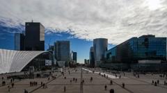 'La Défense', the financial district of Paris Stock Footage