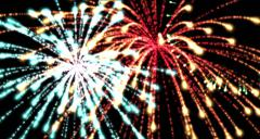 High-definition abstract fireworks Stock Footage