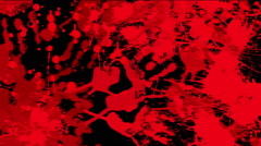 Red blood on black background Stock Footage