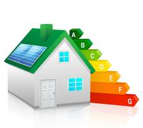 Green Energy Home - stock illustration