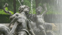 Two statues on a fountain, Munich Stock Footage