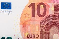 Ten euro banknote - stock photo