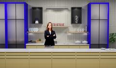 Tricaster Psd TV Studio Set for Cookery Show - PSD template