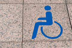Handicapped parking Stock Photos