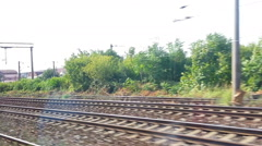 Motion Background Railroad Tracks Stock Footage