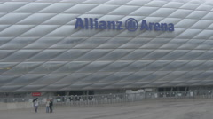 Group of people at Allianz Arena in Munich Stock Footage