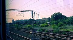 Railroad Tracks POV Stock Footage