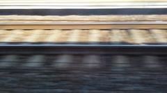 Fast Running Railroad Tracks Stock Footage