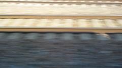 Railways Tracks POV Stock Footage