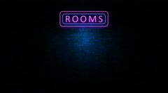 Rooms Neon Light Sign Flickering Arkistovideo