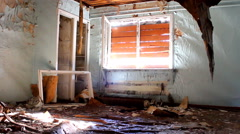 Room in an abandoned house Stock Footage