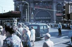 Flinders Street Station, Melbourne 1962 Stock Photos
