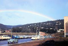 Stock Photo of Rainbow Near Health Administration Building, Hobart