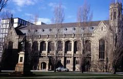 Wilson Hall, Melbourne University, Australia 1961 - stock photo