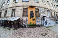 Memorial to Viktor Tsoi (1962-1990) in St.Petersburg, Russia Stock Photos