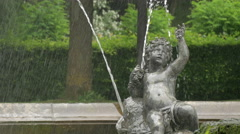 Little child statue at the Angel of Peace fountain, Munich Stock Footage