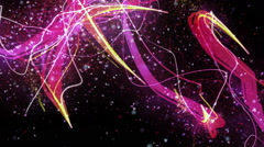 Abstract pink particles video Stock Footage