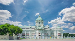 The Ananta Samakhom Throne Hall in Thai Royal Dusit Palace, Bangkok, Thailand. Stock Footage
