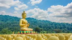 Makha Bucha Buddhist Memorial Park, Nakhon Nayok, Thailand. Stock Footage