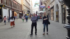 Time lapse people walking in Vienna Stock Footage
