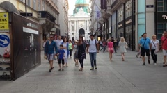 People walking in Vienna Stock Footage