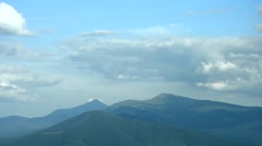 Clouds over Hoverla and Petros mounts in Carpathian Mountains.mp4 Stock Footage