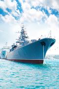 Military ship Stock Photos