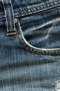 Design pocket of blue jeans Stock Photos