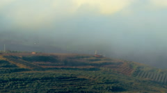 Video of pastoral hills and clouds shot in Israel. - stock footage