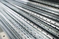Sheet metal profiles close up Stock Photos