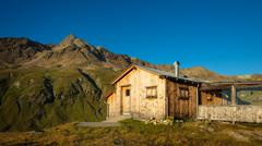 Refuge on the alps - stock photo