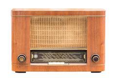 Vintage radio on the white Stock Photos
