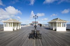 A Walk on Cromer Pier - stock photo
