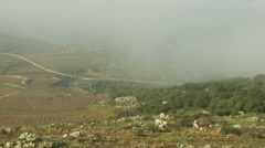 Stock Video Footage of Stock Video Footage panorama of pastoral hills and clouds shot in Israel.
